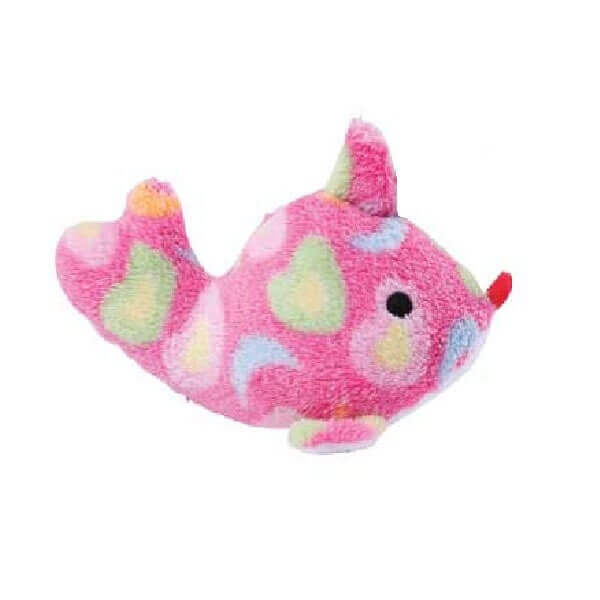 Sea charmer pink fish dog toy for Fish dog toy